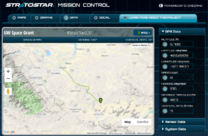 Mission Control - Tracking Map & Data Feed