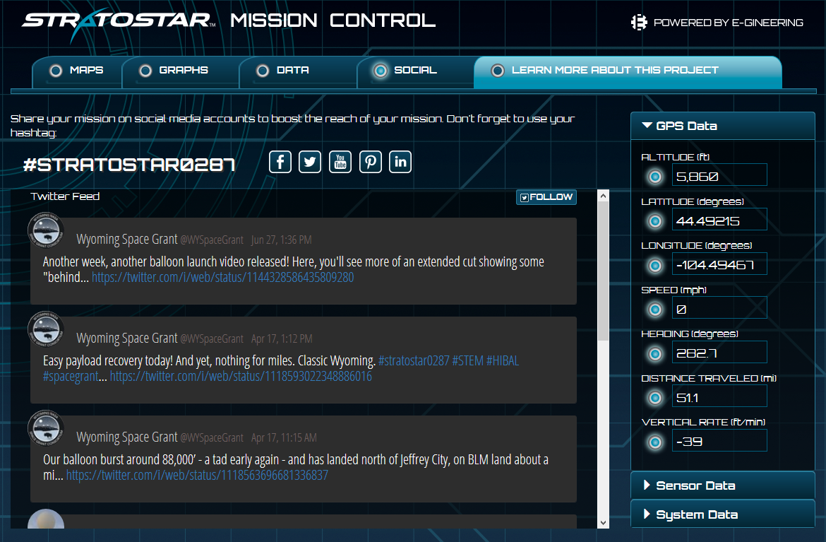 Mission Control - Twitter Feed
