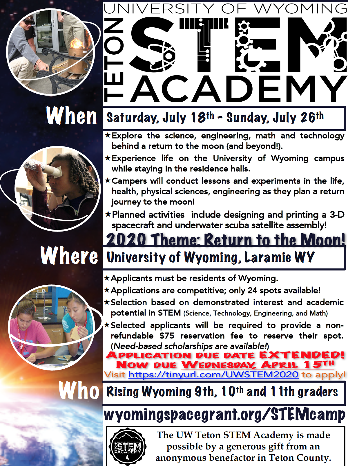 2020 STEM Camp Flyer