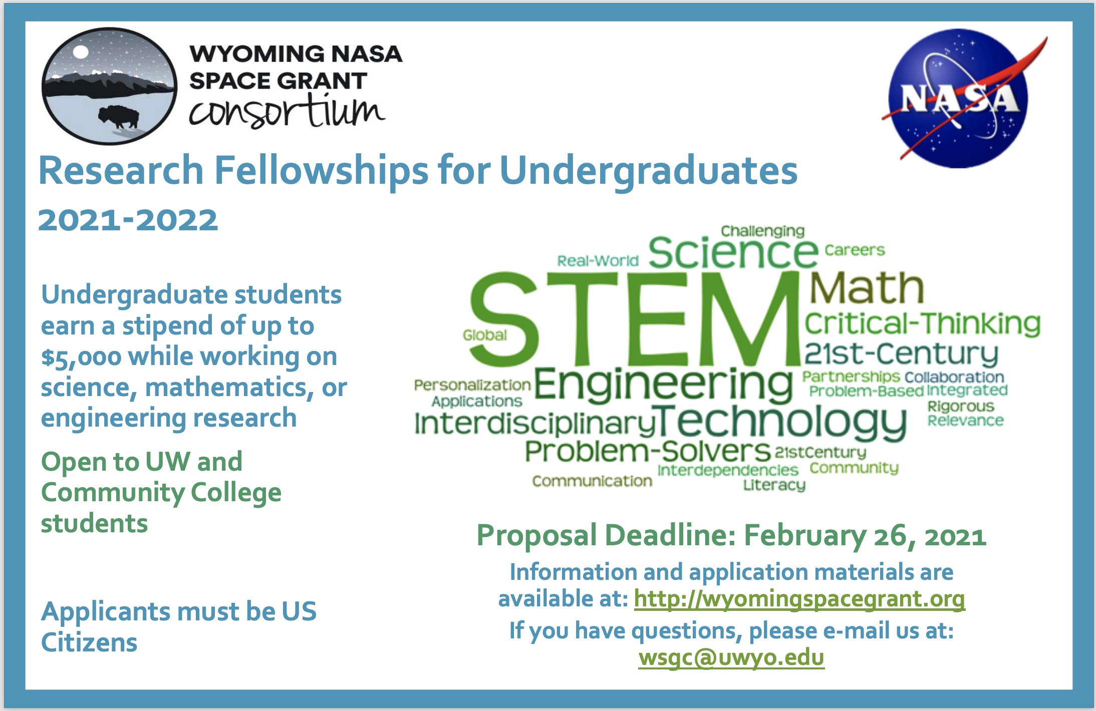 2021-2022 UG Research Fellowships Poster