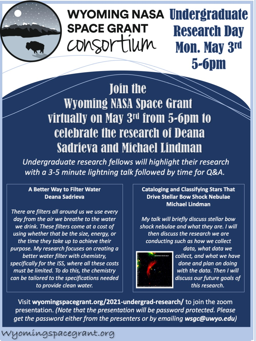 May 3 Space Grant UG Research Presentations