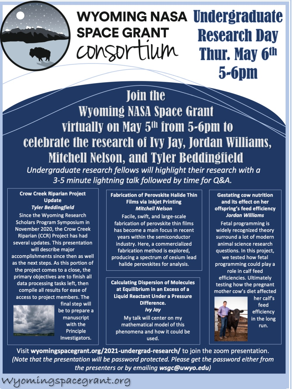 May 6 Space Grant UG Research Presentations